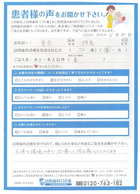 東京都在住 76歳 男性