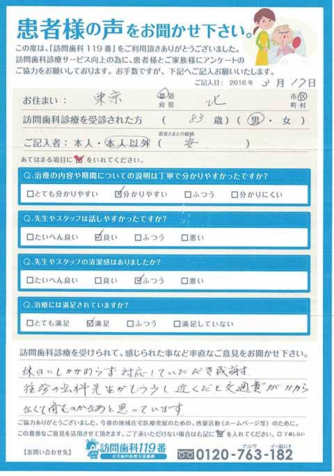 東京都府中市在住 88歳 女性