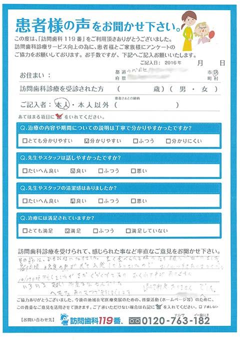 東京都千代田区在住 87歳 女性
