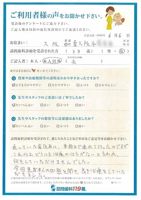 大阪府東大阪市 88歳 女性