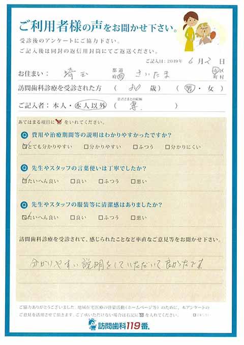 埼玉県さいたま市 80歳 男性