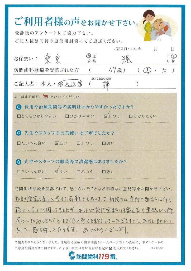 東京都港区 69歳 男性