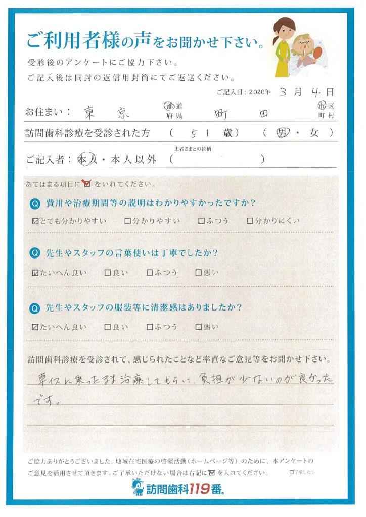 東京都町田市 51歳 男性